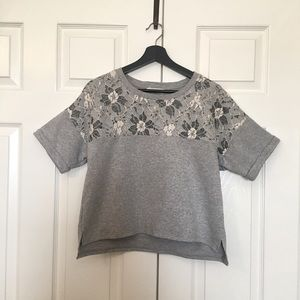 Tops - Jersey Top with lace accent